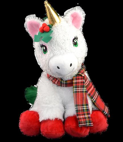 Joy the Christmas Unicorn 16 inch Create A Festive Cuddly Friend Package