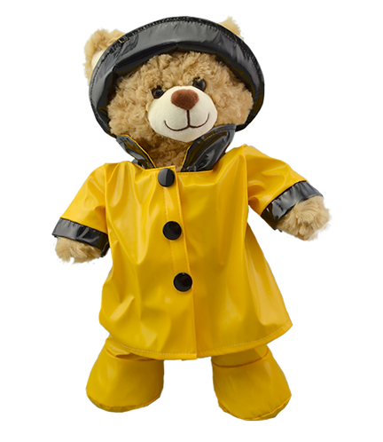 Yellow Raincoat with hat and wellies 16 inch