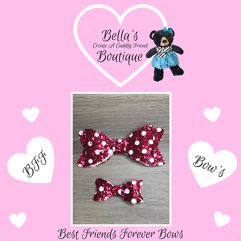 Bellas Boutique BFF Bows Red Polka Dot