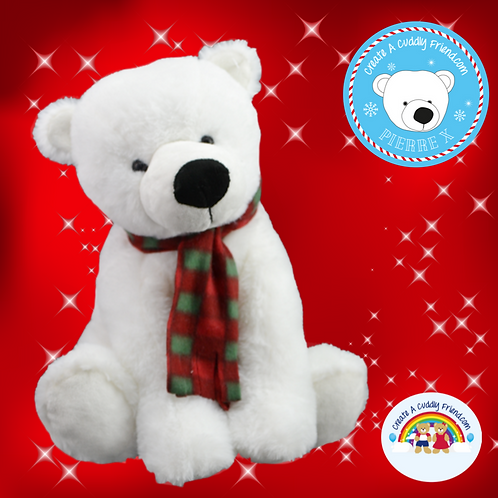 Pierre The Polar Bear 16 inch Christmas Eve Box Filler Pack