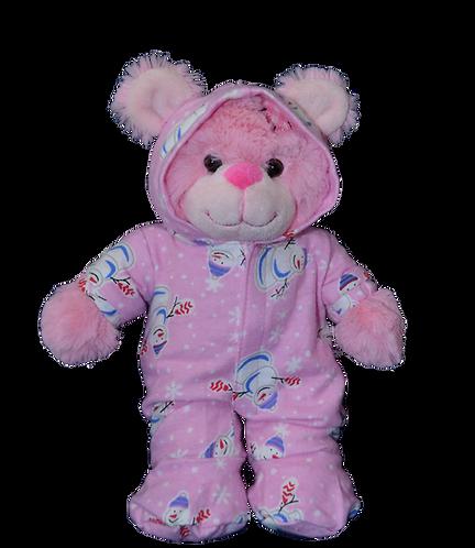 Pink Snowman Onesie 16 inch