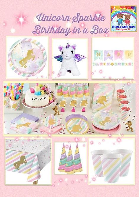 Birthday In a box - Unicorn Sparkles