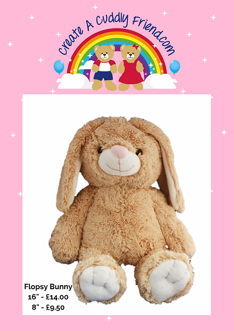 Flopsy Bunny 16 inch Create A Cuddly Friend Package