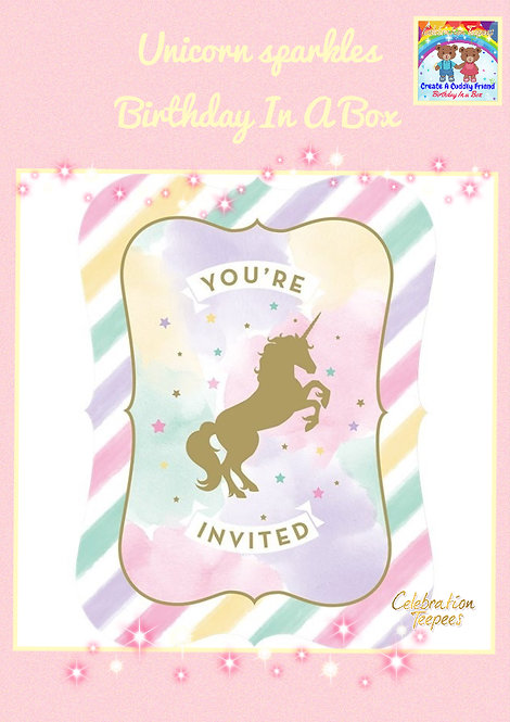 Unicorn Sparkle Invitations
