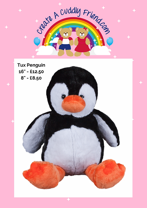 Tux Penguin 8 Inch Create A Cuddly Friend Package