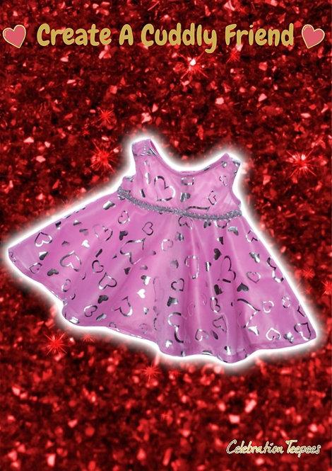Pink & Silver Dress 16 inch