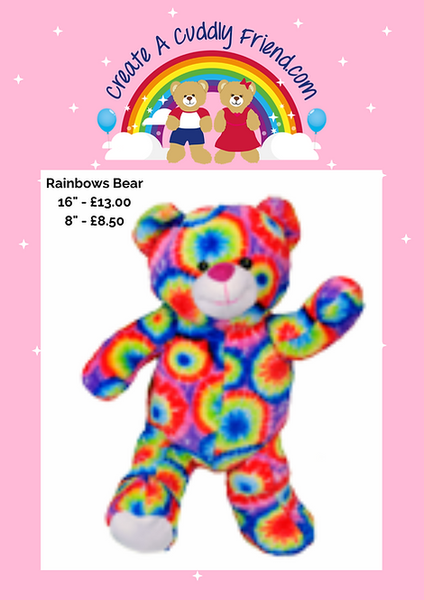 Rainbows Bear 16 Inch Create  A Cuddly Friend Package