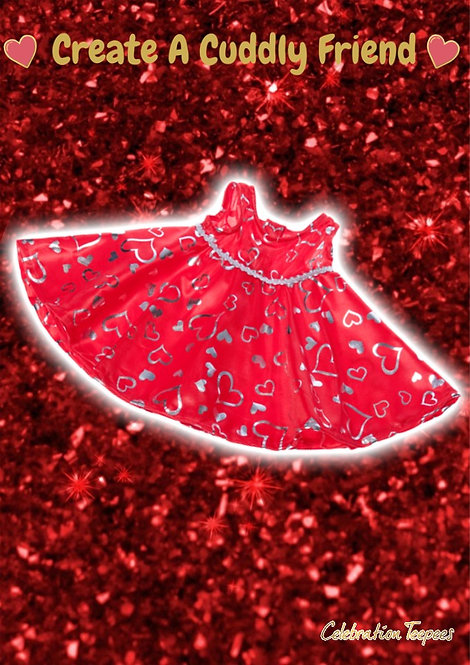 Red & Silver Dress 8 inch