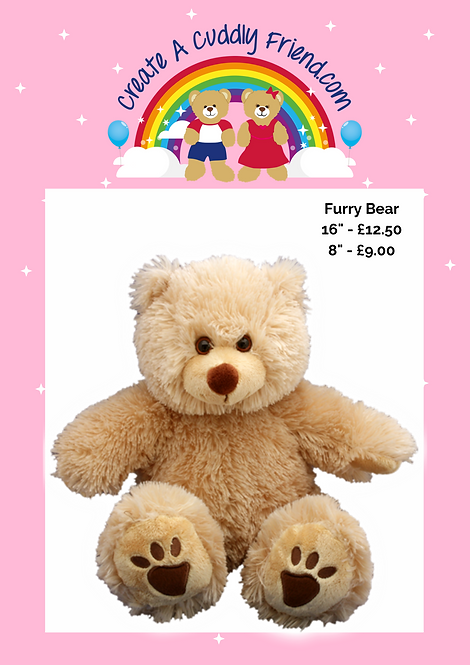 Furry Bear 8 Inch Create A Cuddly Friend Package