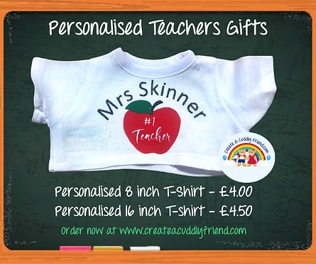 Personalised Teacher T-shirt 8 inch