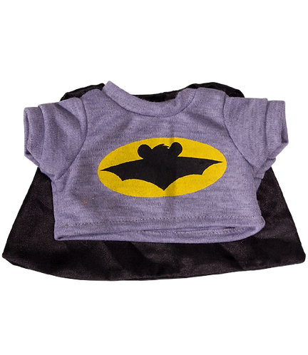 Bat Bear Tee with Cape 16 inch