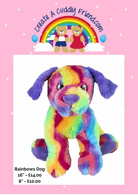 Rainbows Dog 8 Inch Create A Cuddly Friend Package