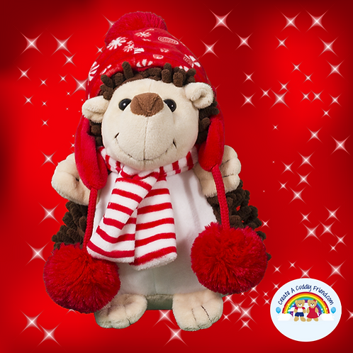 Create A Cuddly Festive Friend Package - Holly Hedgehog 8 inch