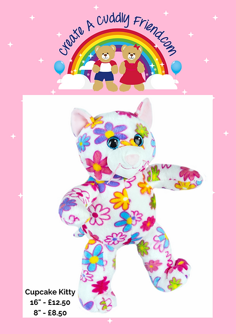 Cupcake Kitty 8 Inch Create A Cuddly Friend Package