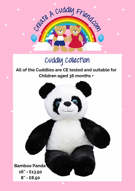 Bamboo Panda 16 inch Create A Cuddly Friend Package