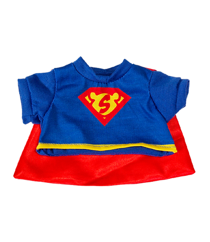 Super Bear Tee with Cape 8 inch