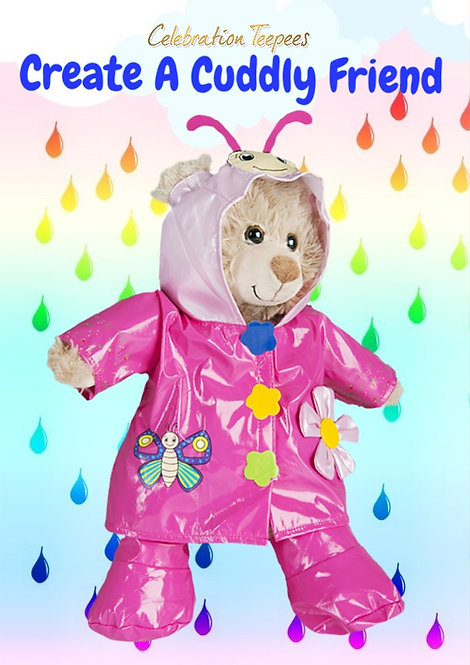 Pink Butterfly Raincoat and Wellies Set 16 inch