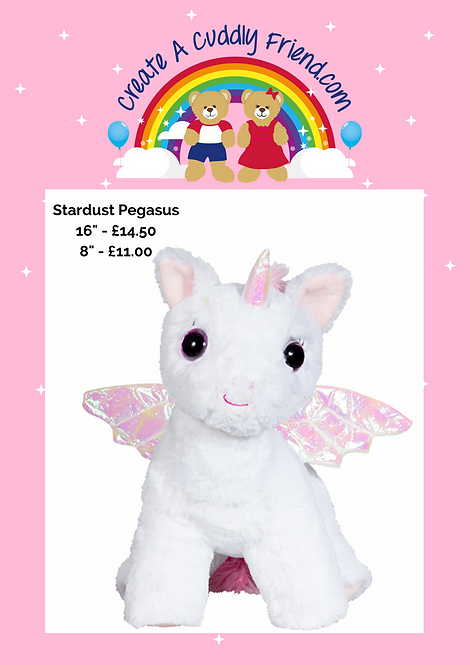 Stardust Pegasus 16 Inch Create A Cuddly Friend Package