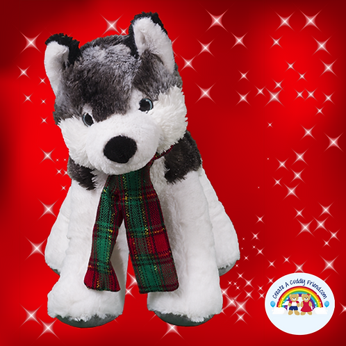 Create A Cuddly Festive Friend Package - Klondike The Husky 16 inch