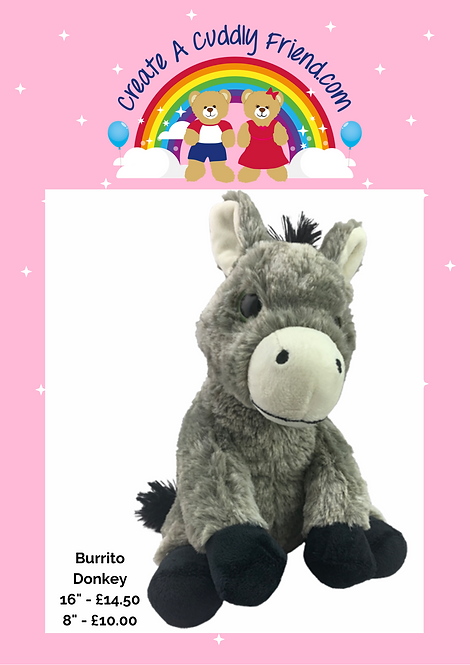 Burrito Donkey 8 Inch Create A Cuddly Friend Package