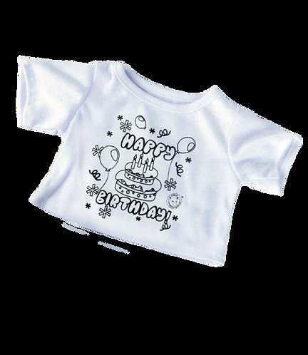 "Colour Me ""Happy Birthday"" T-shirt 16 inch - Pre-order"