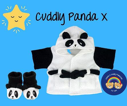 Panda Robe and Slippers Set 16 inch