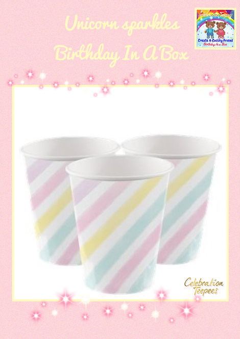 Unicorn Sparkle Paper Cups - 256ml