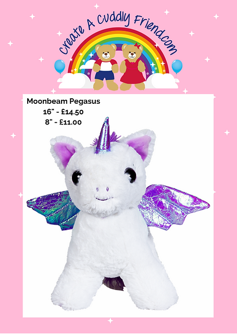Moonbeam Pegasus 8 inch Create A Cuddly Friend Package