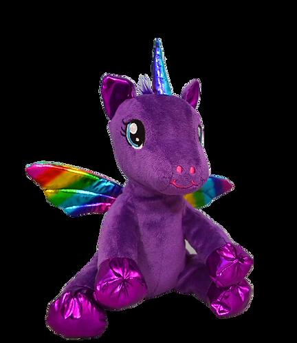 Sparkles the Purple Rainbow Winged Unicorn 8 inch
