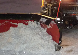 Snow Plowing with a V-Plow