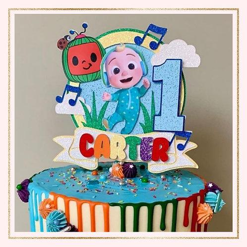 Cocomelon themed cake topper