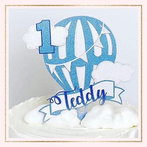 Hot Air Balloon themed cake topper