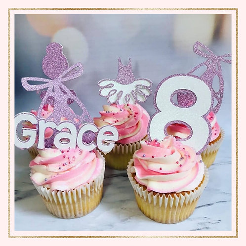 Ballet themed cupcake toppers