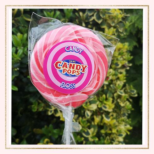 Large Candy Floss Lollipop