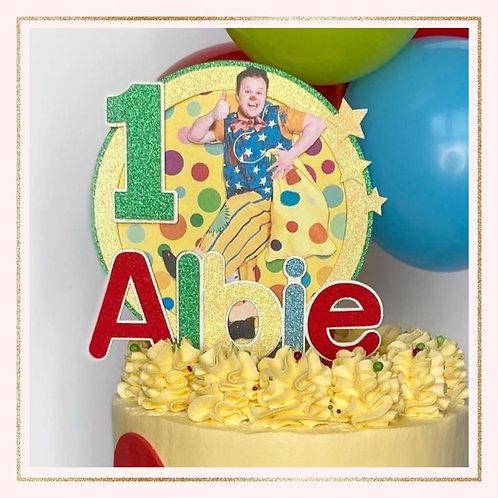 Mr Tumble themed cake topper