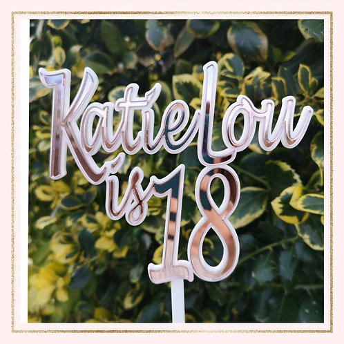 Double layer NAME is AGE acrylic topper