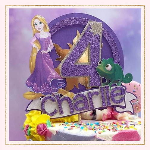 Rapunzel princess themed cake topper