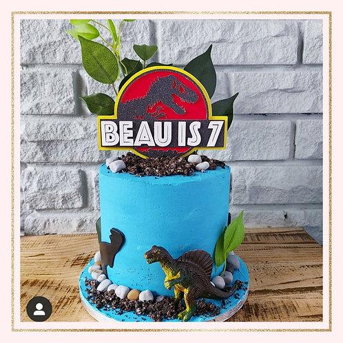 Jurassic Park themed cake topper