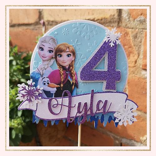 Frozen themed cake topper