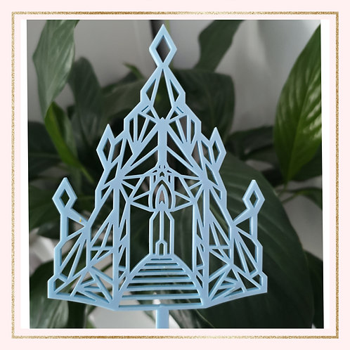 Acrylic Ice Castle cake topper