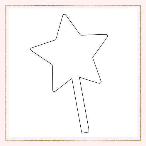 "4"" Acrylic star cake topper"