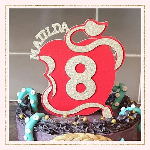 Descendants themed cake topper