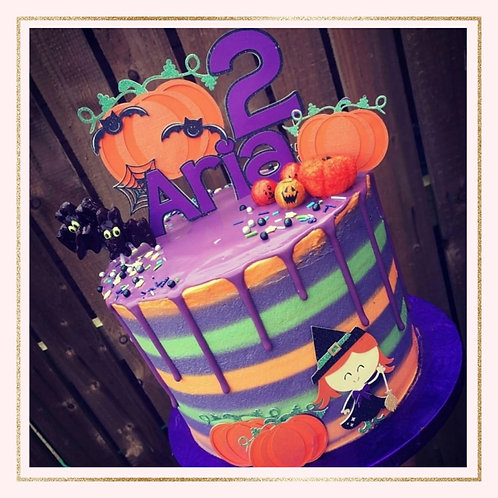 Halloween themed cake topper set