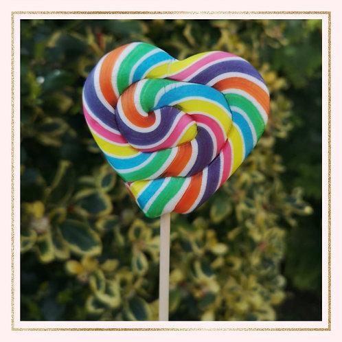 Rainbow Heart shaped Lollipop