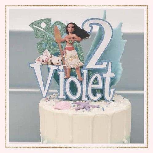 Moana themed cake topper