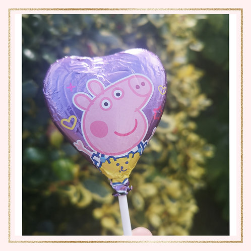 Peppa Pig Chocolate Lollipop