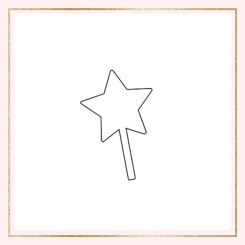"2.5"" Acrylic mini star cake topper"