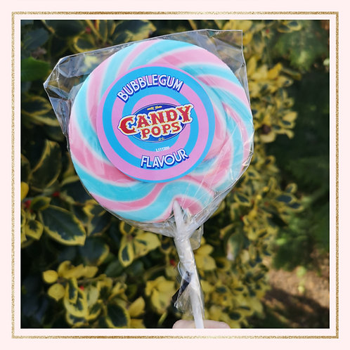 Large Bubblegum Wheel Lollipop