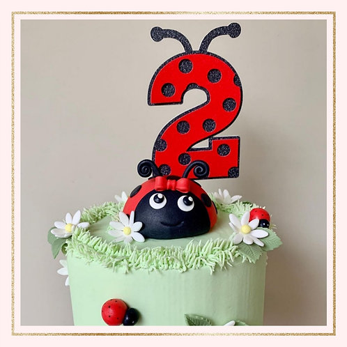 Themed number cake topper