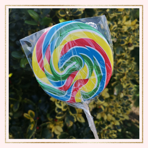 Giant Rainbow Swirl Lollipop